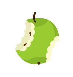 green apple core isolated fruit trash rubbish on vector image vector image