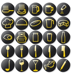 kitchen buttons set vector image vector image
