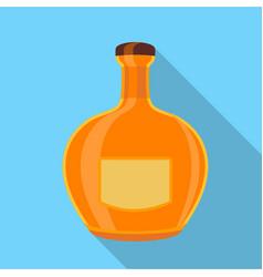 orange glass bottle icon flat style vector image vector image