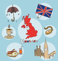 set of national profile of the england vector image