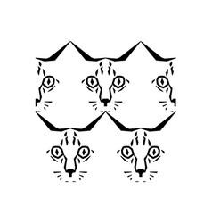 Call me cat pattern vector