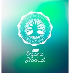 Circle tree logo design template vector image