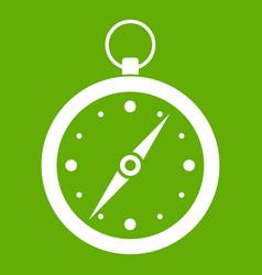 compass icon green vector image