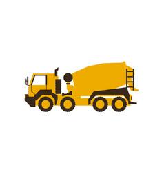 Icon concrete mixer construction machinery vector