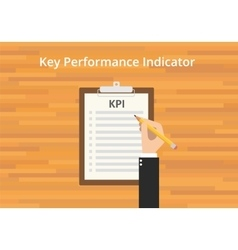 kpi key performance indicator checklist vector image