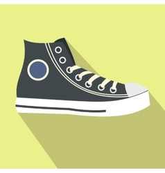Retro sneaker flat icon vector image