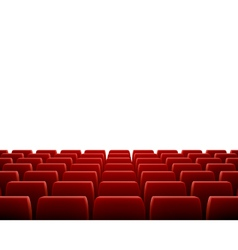 Row of seats in theatre vector