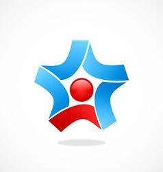 star circle ribbon business logo vector image vector image