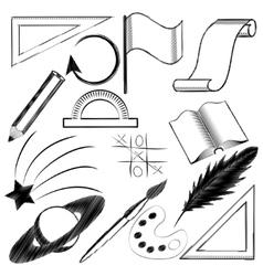 black figures vector image vector image