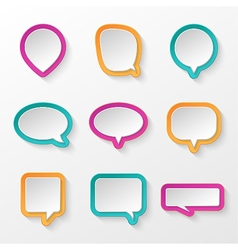 Bubbles for speech collection vector image vector image