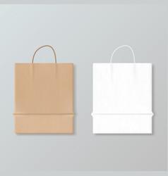 new empty paper shopping bag for advertising and vector image