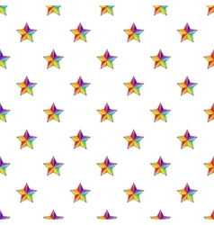 Star in colours of LGBT pattern cartoon style vector image vector image