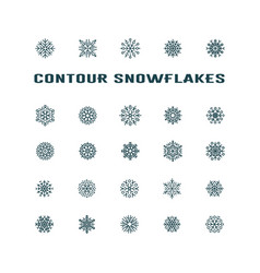 Black snowflakes icon on white background vector