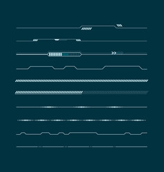 set of hud lines infographic elements head-up vector image vector image