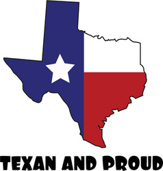 Texan and Proud vector image