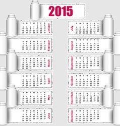 2015 calendar design vector image