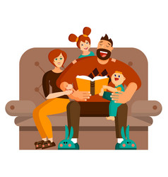 a happy family spends leisure time together at vector image