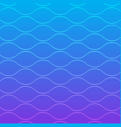 abstract gradient blue wave line art pattern vector image