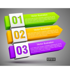 Abstract numbered banners 3D vector image