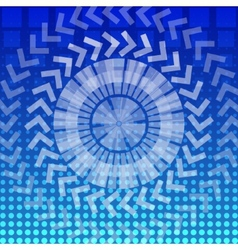 abstract round geometric pattern background vector image