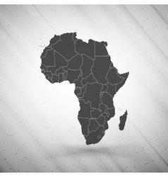 Africa map on gray background grunge texture vector