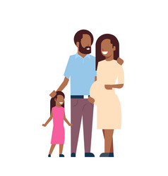 african pregnant mother father daughter full vector image