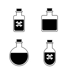 bottles of potion for web game science vector image