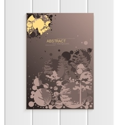 Brochure design business template nature element vector