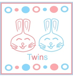 bunny twins vector image