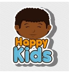 Cartoon boy happy kids smile vector