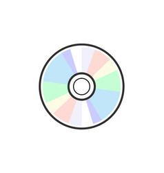 cd dvd icon disc blank vector image