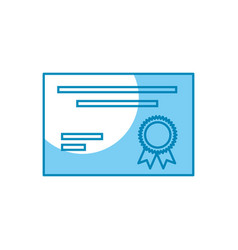 Certificate icon image vector