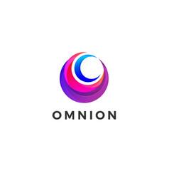 circle company business logo design template vector image