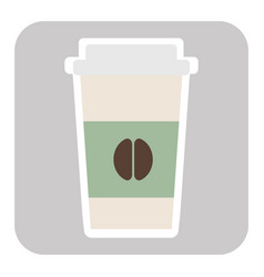 Coffee cup paper offee cup vector