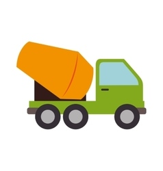 concrete mixer truck cement icon graphic vector image