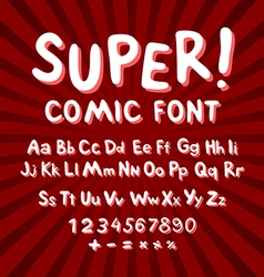 Creative comic font Alphabet in style of comics vector image