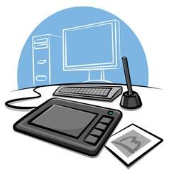 digital graphic tablet vector image