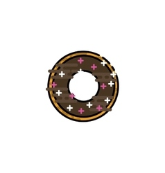 Doughnut flat icon vector