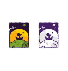 Dream kids background logo vector