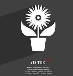 Flowers in pot icon symbol Flat modern web design vector image