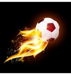 Football Ball With Fire vector