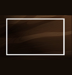 Frame template design with brown wood vector