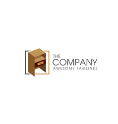 Furniture concept logo vector