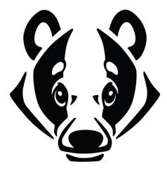 Head of european badger vector