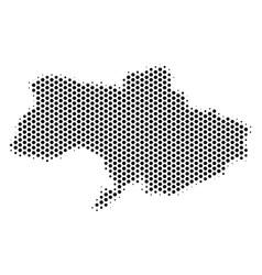 Hexagonal ukraine map vector