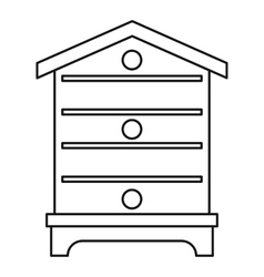 Hive icon outline style vector