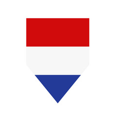 holland flag in on white background vector image