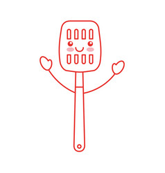 Kitchen spatula tool kawaii character vector