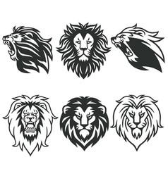 Lion logo package premium design collection set vector