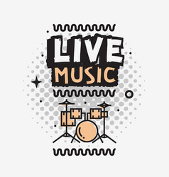 live music in concert design with set vector image